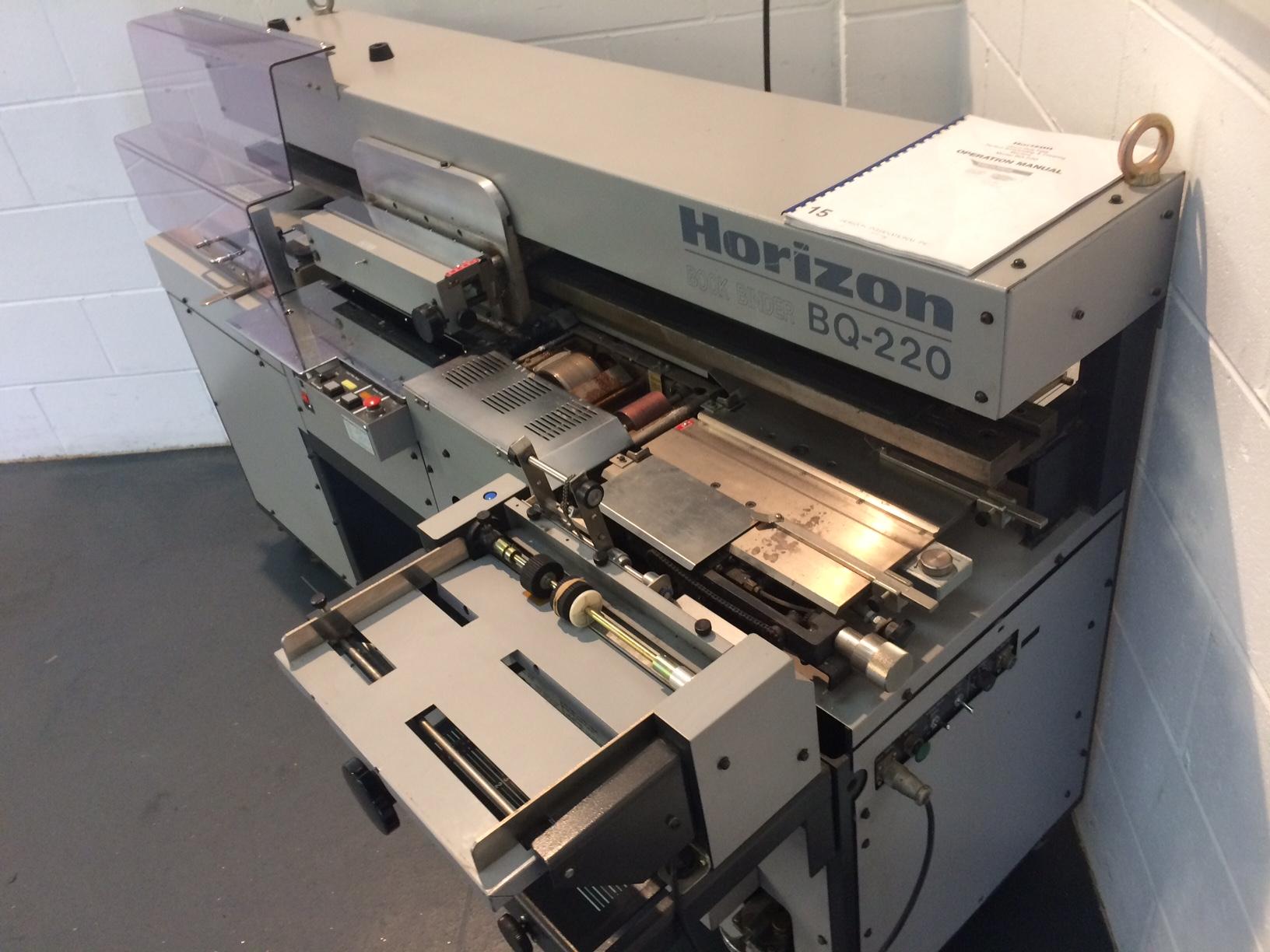 Horizon Bq 220 Perfect Binding Machine