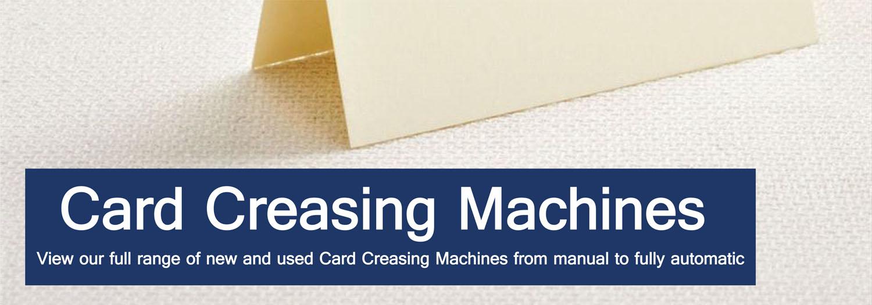 Paper Creasers & Card Creasing Machines - Binding Store UK