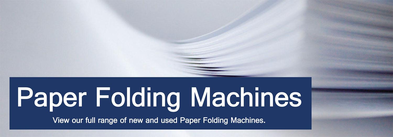 Folding Machine Amp Paper Folding Machines Binding Store Uk