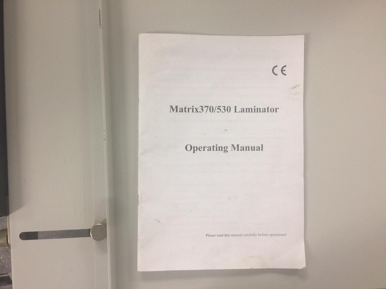 Used Matrix 530 Single Sided Laminator