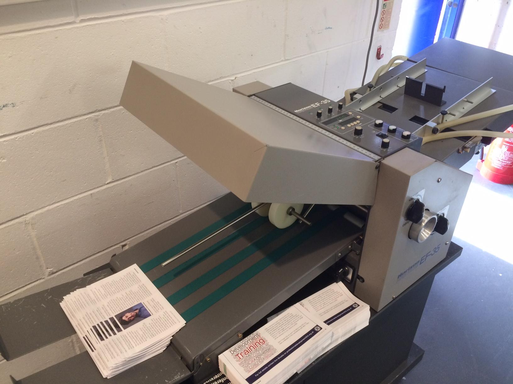 Horizon Ef 35 Paper Folding Machine Suction Fed Folder