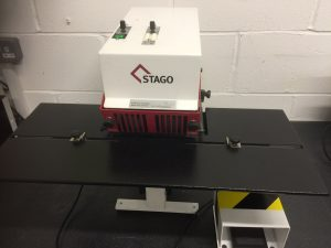 Stago HM6 Twin Head Stapler with stand