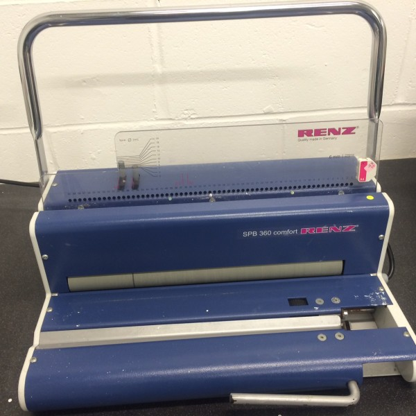 Used Renz SPB 360 Spiral Binding Machine