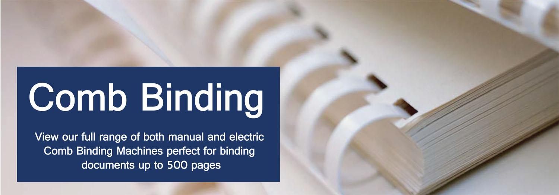 Electric, Plastic & Wire Comb Binding Machines - Binding