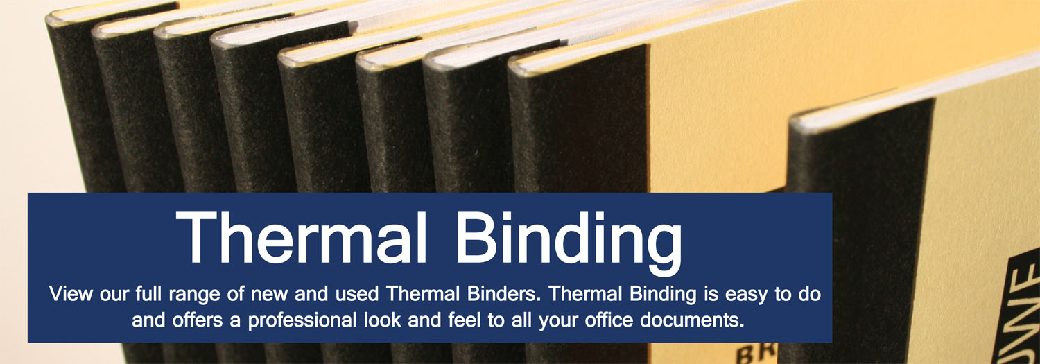 Thermal Binding Machines Amp Thermal Binders Binding Store Uk