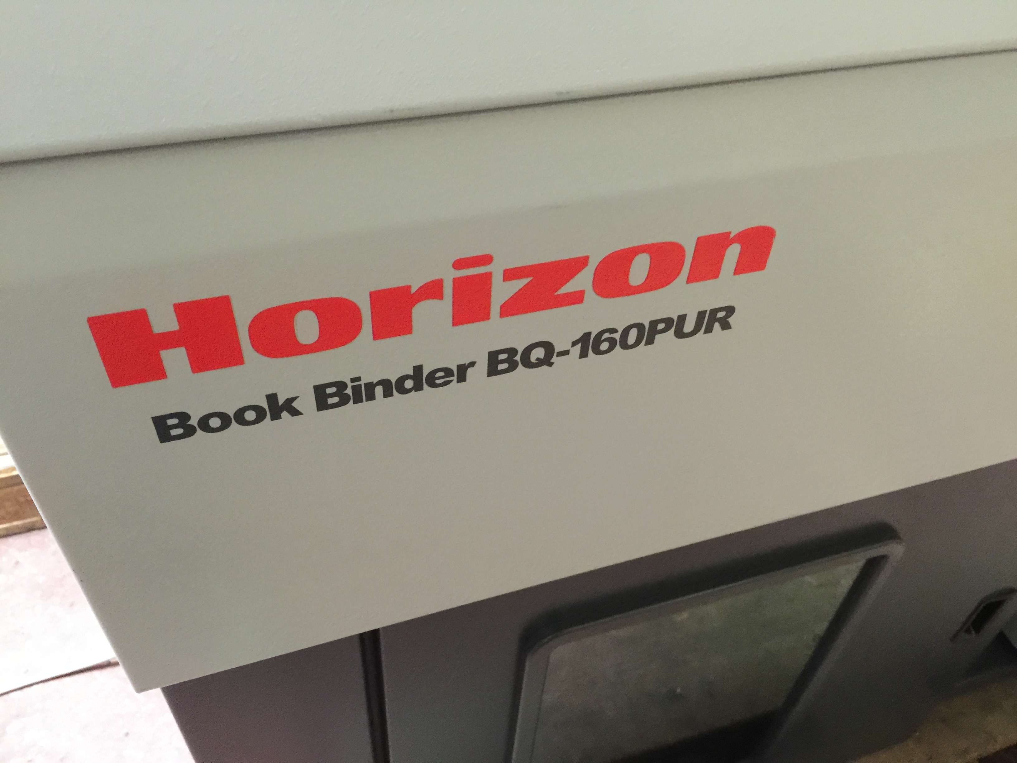 2013 Horizon Bq 160 Pur Perfect Binder