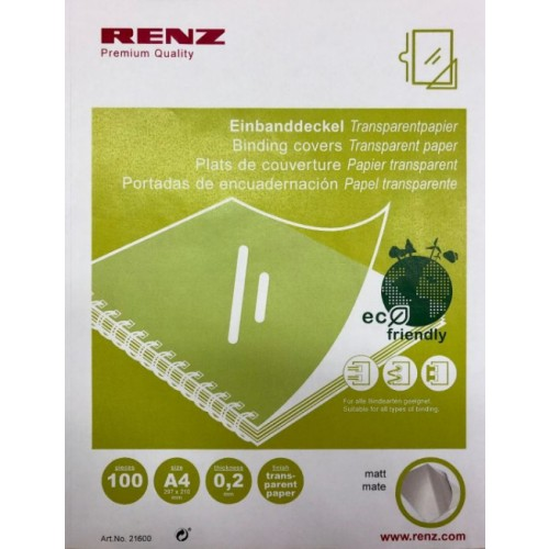 Renz A4 Eco Plastic Free Covers