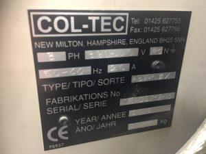 Col-Tec Identificaction Plate