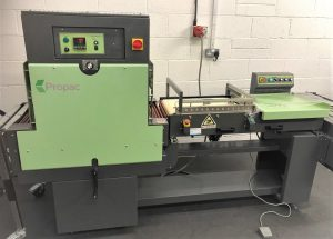 Propac LST500p Pneumatic Semi Automatic L Sealer, Heat Tunnel and Conveyor.